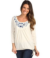 Lucky Brand - Grace Embroidered Bib Top