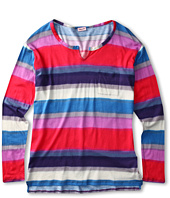 Splendid Littles - Watercolor Stripe L/S Top (Big Kids)