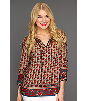 Lucky Brand - Betton Indian Gate Border Peasant Top