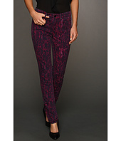 Calvin Klein Jeans - Knit Lace Print Denim in Deep Fuchsia