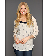 Lucky Brand - Hideaway Diamond Dot Top