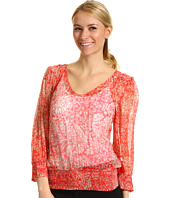 Lucky Brand - Palisades Knotted Flowers Smocked Top