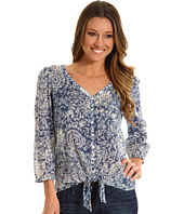 Lucky Brand - Knotted Flowers Tie Front Top