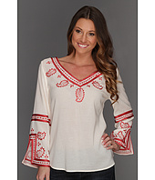 Lucky Brand - Topanga Days Embroidered Top