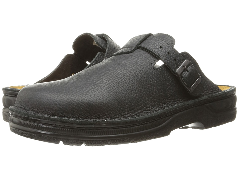 Naot - Fiord (Black Leather) Mens Slip on  Shoes