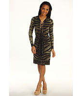 MICHAEL Michael Kors - Samburu Tiger Lace Up Border Dress