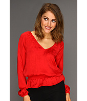 MICHAEL Michael Kors - Habutai L/S Cinch Waist Top