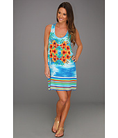 C&C California - Tropical Panel Printed Tie Back Tank Dress