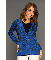 MICHAEL Michael Kors - Zebra Inside Out V-Neck Cardigan