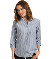 C&C California - YD Chambray Stripe Shirt w/ Crochet