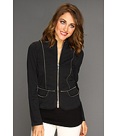 MICHAEL Michael Kors - Stretch Twill L/S Fitted Zip Jacket