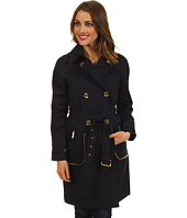MICHAEL Michael Kors - Sateen Zip Pocket Trenchcoat