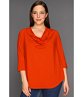 Karen Kane Plus - Plus Size Three Quarter Sleeve Drape Neck Top