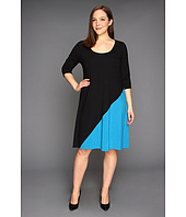 Karen Kane Plus - Plus Size Diagonal Block Dress