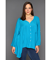 Karen Kane Plus - Plus Size Pocket Sharkbite Top