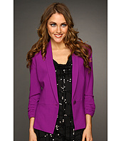DKNY Jeans - Shawl Collar Blazer w/ Ruched Three-Quarter Sleeve