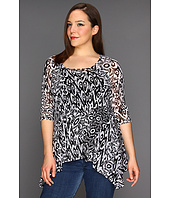 Karen Kane Plus - Plus Size Three Quarter Sleeve Handkerchief Top