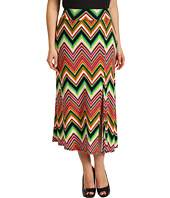 Karen Kane Plus - Plus Size Digital Zig Zag Pull On Maxi Skirt