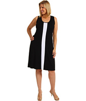 Karen Kane Plus - Plus Size Sleeveless Contrast Dress