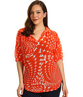 Karen Kane Plus - Plus Size Split Neck Top