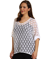 Karen Kane Plus - Plus Size Crochet Lace Top