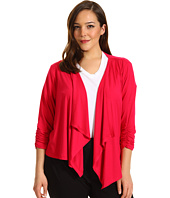 Karen Kane Plus - Plus Size Shirred Sleeve Drape Jacket