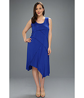 Karen Kane Plus - Plus Size Handkerchief Hem Dress