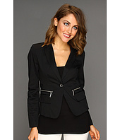 MICHAEL Michael Kors Petite - Petite Stretch Twill 1 Button Blazer