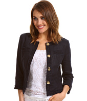 MICHAEL Michael Kors Petite - Petite Linen 4 Pocket Smocked Trim Jacket