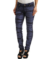 MICHAEL Michael Kors Petite - Petite Indigo Stretch Denim Tie Dye in Dark Midnight