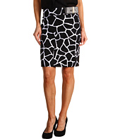 MICHAEL Michael Kors Petite - Petite Small Mod Giraffe Pencil Skirt