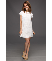 MICHAEL Michael Kors Petite - Petite Eyelet S/S Easy Dress