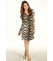 MICHAEL Michael Kors Petite - Petite Samburu Tiger L/S Wrap Dress