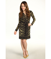 MICHAEL Michael Kors Petite - Petite Samburu Tiger Lace Up Border Dress