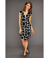 MICHAEL Michael Kors Petite - Petite Mod Giraffe Sleeveless Wrap Dress
