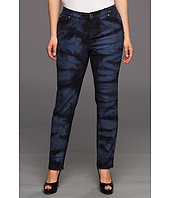 MICHAEL Michael Kors Plus - Plus Size Indigo Stretch Denim Tie Dye in Dark Midnight