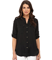 Calvin Klein - Crew Neck Roll Sleeve Blouse