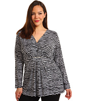 MICHAEL Michael Kors Plus - Plus Size Mini Roxy L/S Pleated Front Top