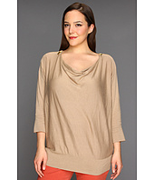 MICHAEL Michael Kors Plus - Plus Size Cowl Neck Zip Shoulder Sweater