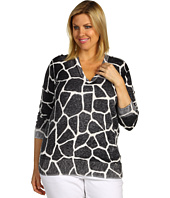 MICHAEL Michael Kors Plus - Plus Size Giraffe Inside Out L/S Sweater