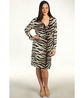 MICHAEL Michael Kors Plus - Plus Size Samburu Tiger L/S Wrap Dress