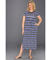 MICHAEL Michael Kors Plus - Plus Size Kyoto Stripe Long Dress