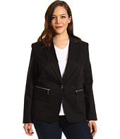 MICHAEL Michael Kors Plus - Plus Size Stretch Twill 1 Button Blazer