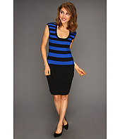 Calvin Klein - Stripe Scoop Neck Dress