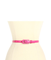 LAUREN Ralph Lauren - Skinny Faux Lizard Belt w/ Elongated LCB
