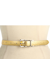 LAUREN Ralph Lauren - Croc/Patent Reversible Belt w/ Two-Tone Buckle