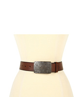 LAUREN Ralph Lauren - Tumbled Leather Belt w/ Engraved Plaque