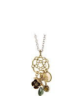 Lucky Brand - Beachwood Floral Oversized Charm Necklace