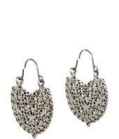 Lucky Brand - Rosebud Medium Filligree Hoop Earrings