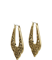 Lucky Brand - Rosebud Large Pointed Oblong Hoop Earrings